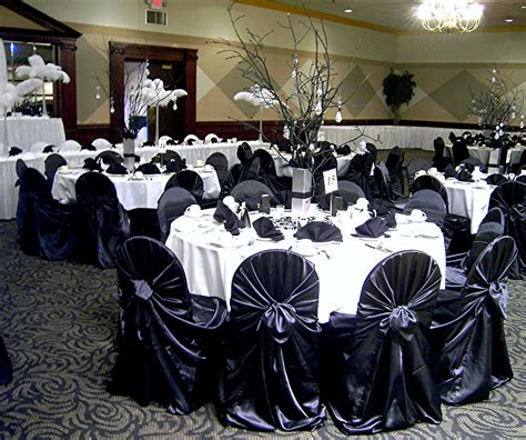 dreams black gold chagne satin chair covers tie back