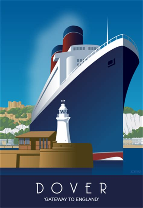 Dover Harbour - cruise ship Blank A5 greetings card 4