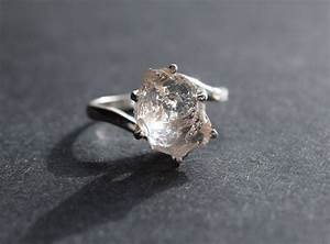 raw diamond engagement ring rough uncut diamond wedding band With raw diamond wedding ring