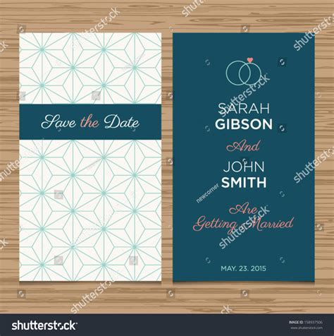 invitation design template wedding card invitation template editable pattern stock vector 158937506
