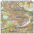Aerial Photography Map of Cambridge, MA Massachusetts