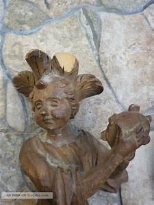 Antike Esstische Holz : 3 antike holz figuren skulptur minnes nger statue engel musizierend geschnitzt ~ Michelbontemps.com Haus und Dekorationen