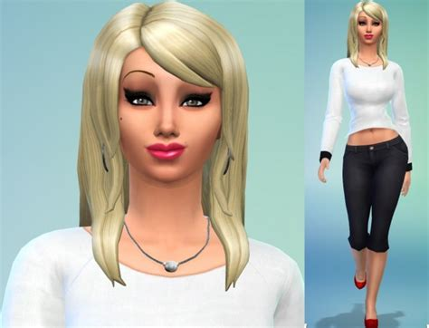 Celebrity Sim Pamela Anderson By Populationsims At Sims 4