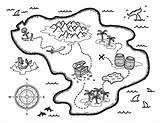 Treasure Coloring Map Printable Museprintables Pirate Maps Template Drawing Island Pdf Paper Printables Templates sketch template