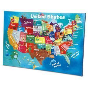 USA Map Canvas Print   Lillian Vernon   Kids Rooms   Lillian Vernon   School   Pinterest   Map