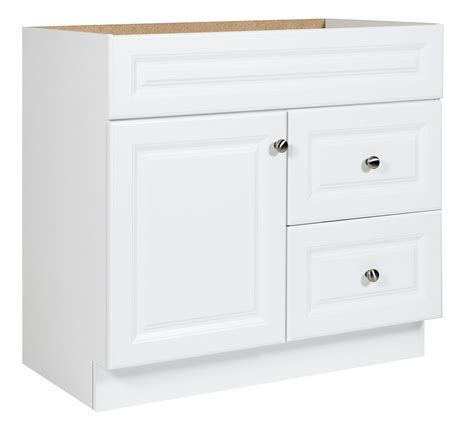 glacier bay bathroom cabinets glacier bay 36 in white hton vanity the home depot canada