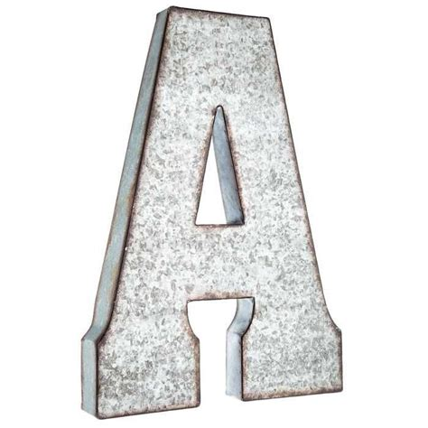 galvanized metal letter wall decor  metal wall letters letter wall decor large metal letters