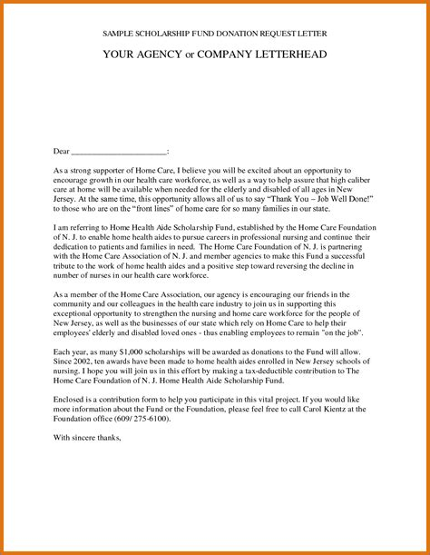 letter for scholarship how to write a scholarship request sle letter image
