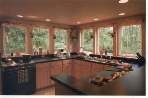 kitchens with no upper cabinets  lots of light   Kitchen