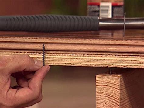 Fixing Squeaky Floors Subfloor by How To Fix Squeaky Floors How Tos Diy