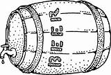 Beer Keg Drawing Clip Colouring Clker Coloring Clipart sketch template