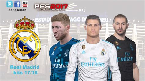 85454 about the kits colors: PES 2017 Real Madrid 2017-18 Kits by AerialEdson - PES Patch