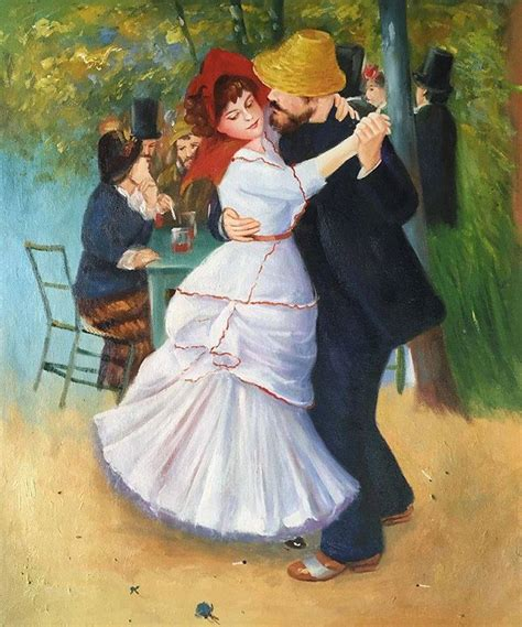 Dance At Bougival Pierre Auguste Renoir Oil Painting