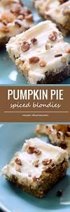 Pumpkin Pie Spiced Blondies | Recipe | Blondie recipe ...