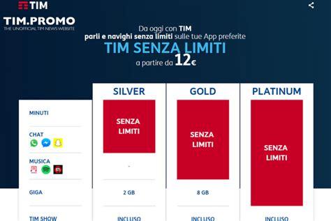 mobile senza limiti nuove offerte tim senza limiti a partire da 12