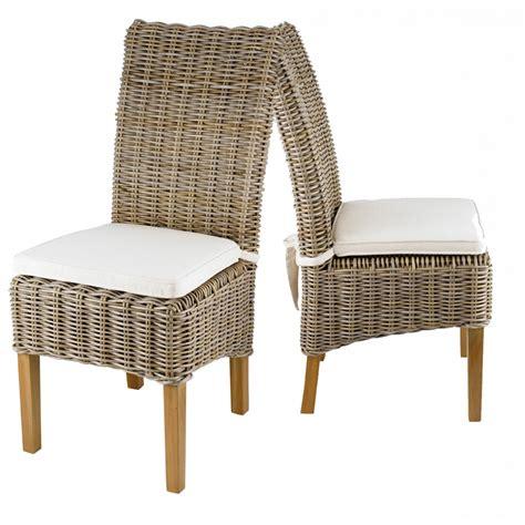 chaise en kubu tress 233 galette lot de 2 soldes d hiver