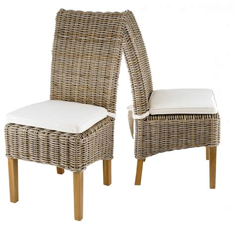 chaise en kubu tressé chaise en kubu tressé galette lot de 2 zago store
