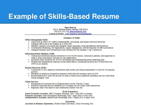 Value Based Resume Template by Resume Skill Building Workshop
