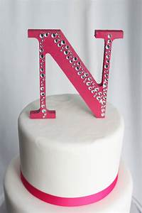 Items similar to hot pink letter n cake topper on etsy for Letter n cake topper