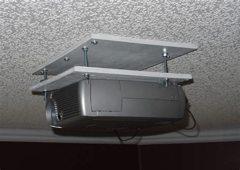 ceiling projector mount diy diy projector mount home