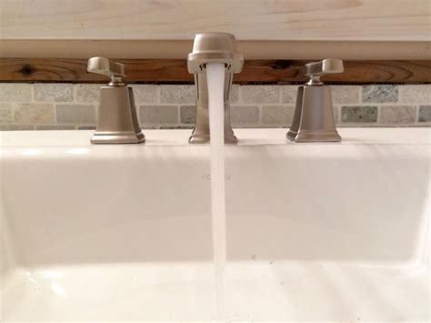 replace  bathroom faucet  tos diy