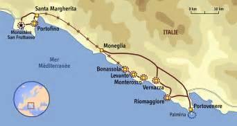 Les Cinq Terres En Italie Carte by Cinque Terre Carte Italie Arts Et Voyages
