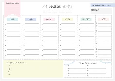 Semainier planning de semaine en pdf imprimable gratuitement. Semainier - Planning de semaine en PDF imprimable gratuitement