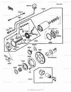 Kawasaki Motorcycle 1986 Oem Parts Diagram For Starter