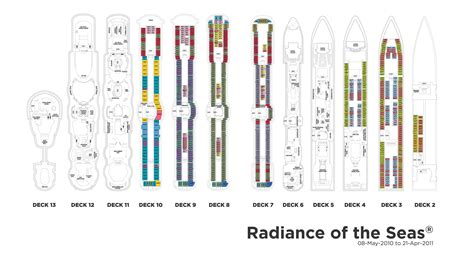 Radiance Of The Seas Deck Plan 8 by Radiance Of The Seas בשביל הזהב