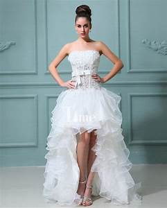short wedding dress with train With short wedding dresses with train