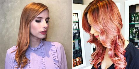 10 Rose Gold Hair Dye Color Ideas