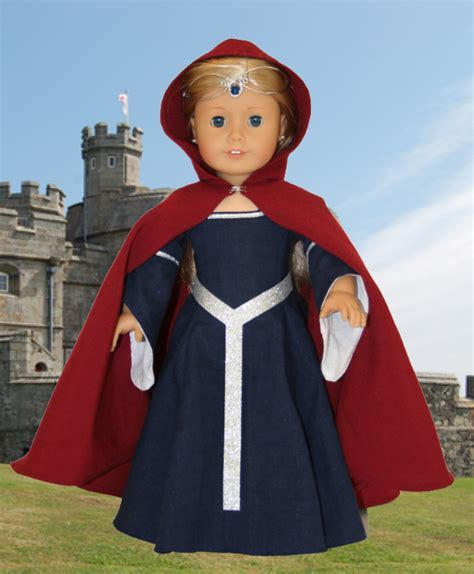 Medieval Doll Cape Sewing Pattern   AllFreeSewing.com