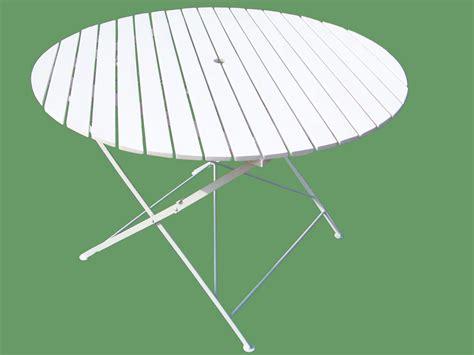 table de jardin ronde plastique blanc jsscene com des