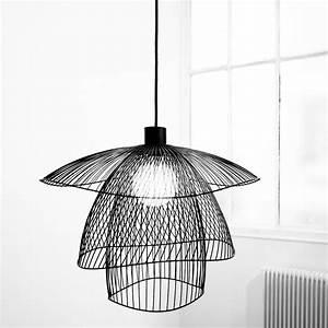 Suspension Fil De Fer : suspension fil de fer noir 100cm papillon lights ~ Teatrodelosmanantiales.com Idées de Décoration
