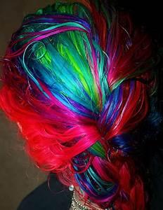 blue hair braid dyed hair green hair hair image