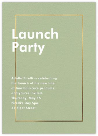 Launch and event online at Paperless Post Event