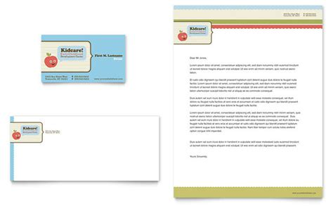 child development school business card letterhead