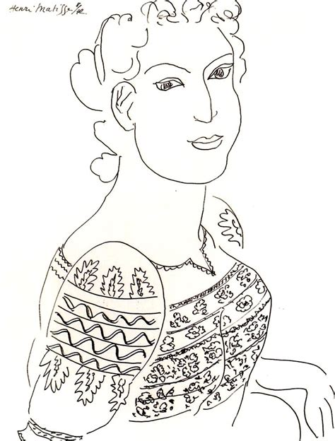 matisse romanian blouse drawing masterpieces adult