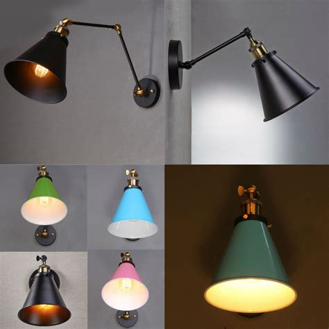 vintage style industrial swing arm wall sconce retro light