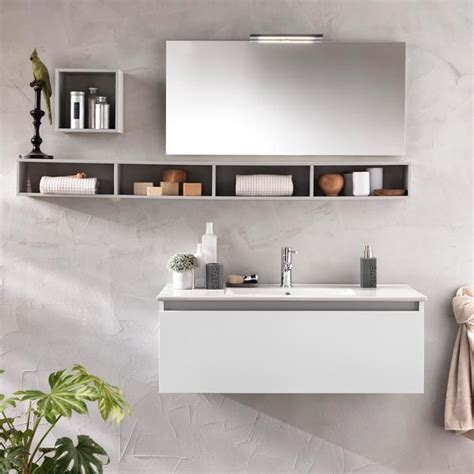 specchio bagno con mensola e composizione mobile bagno mensole specchio lada