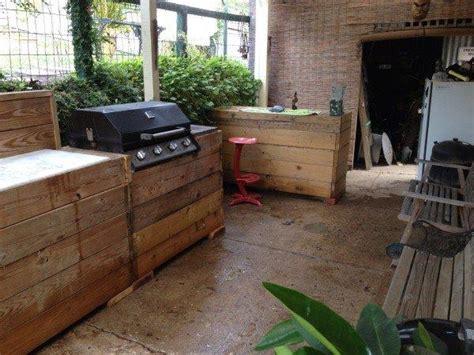 interesting outdoor kitchen   pallets