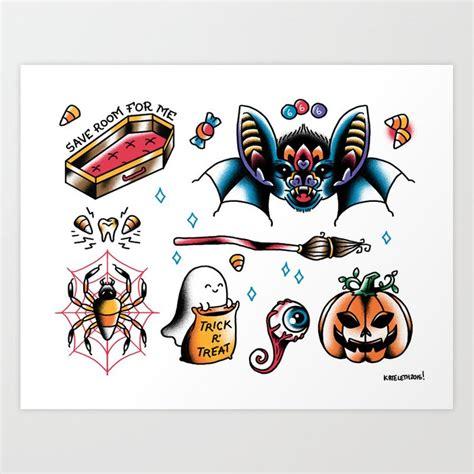 Halloween Flash Sheet Art Print By Kateordie Society6