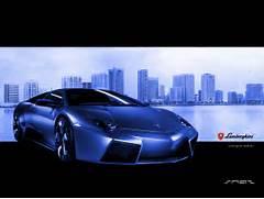 Hd-Car wallpapers  lamborghini reventon wallpaper  Blue Lamborghini Reventon Wallpaper