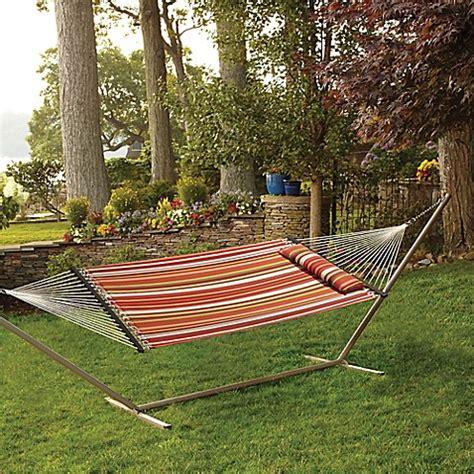 world market hammock hammock with pillow in spice stripe bed bath beyond