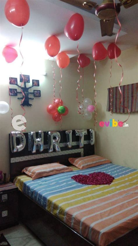 simple room decoration  surprise birthday party