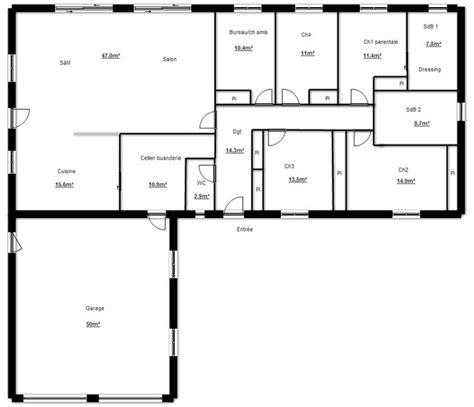 les 25 meilleures id 233 es de la cat 233 gorie plan maison 4 chambres sur plan maison