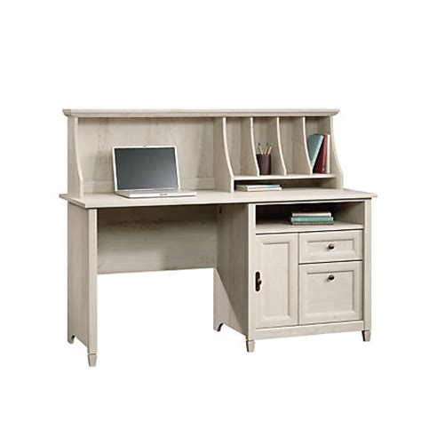 sauder edge water computer desk sauder edge water computer desk with hutch chalked