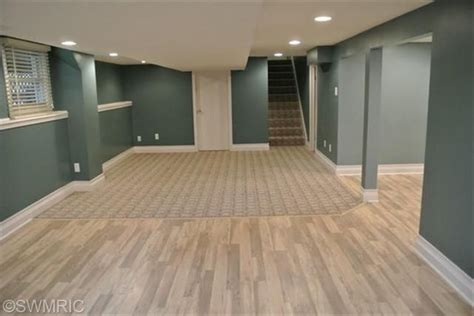 finished basement color and wood flooring house ideas