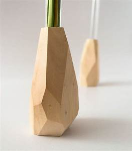 Design Vase : petites facettes bois vase vase fleur soliflore ~ Pilothousefishingboats.com Haus und Dekorationen