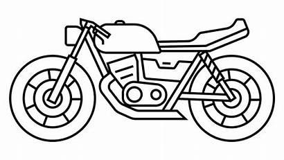 Mewarnai Gambar Sepeda Motor Contoh Coloring Sederhana